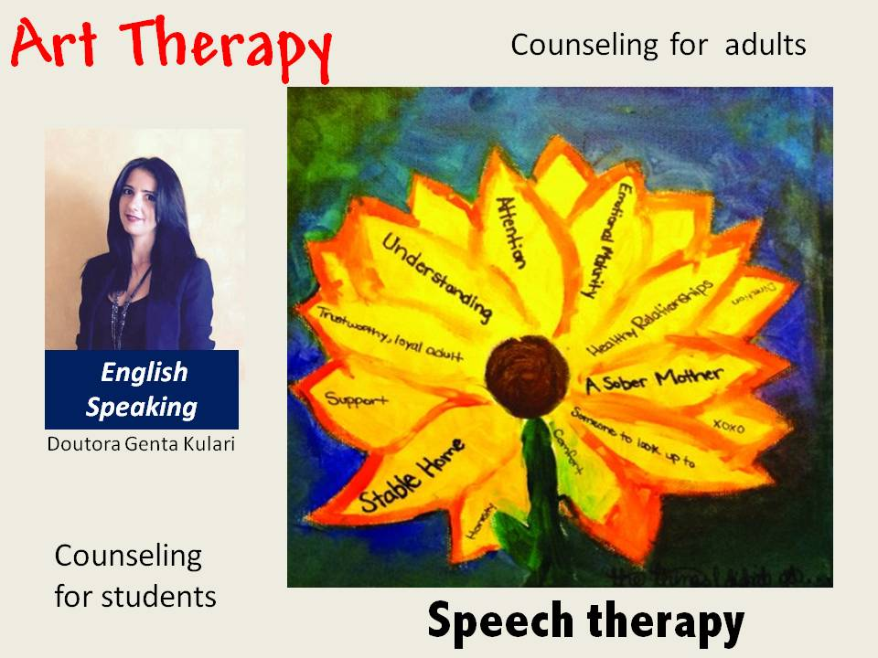 SPEECH THERAPY, ART THERAPY AND COUSELING IN ENGLISH